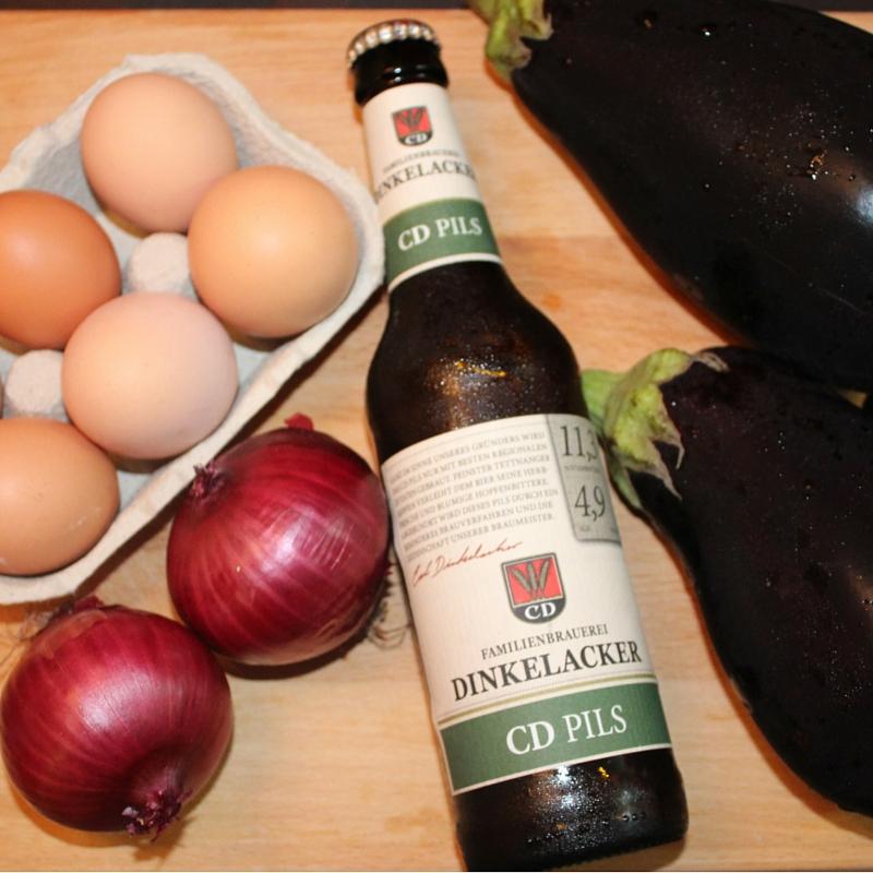 Ingredientes tortilla de berenjena a la cerveza